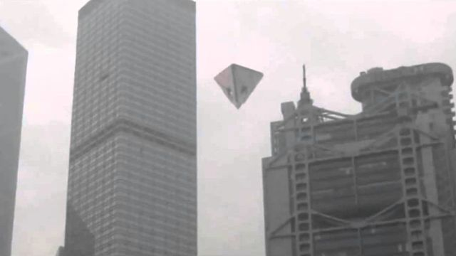 Pyramid UFO over Hong Kong