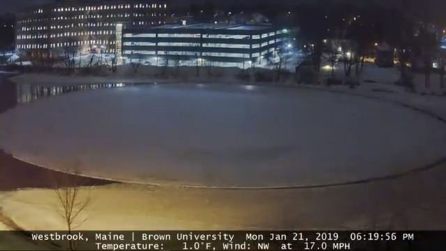 Westbrook Ice Disk - Time-lapse January 21, 2019